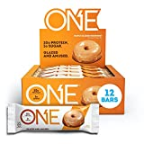 ONE Protein Bars, Maple Glazed Doughnut, Gluten Free Protein Bars with 20g Protein and Only 1g Sugar, Guilt-Free Snacking for High Protein Diets, Maple Glazed Doughnut, 12 Count (Pack of 1)
