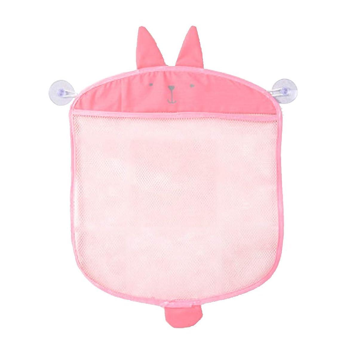 滑りやすいトレーニング船TOPBATHY ぶら下げ収納袋漫画壁掛け多機能雑貨ニットネットメッシュバッグオーガナイザー用キッチンバスルームベビーバスのおもちゃ(ピンク)