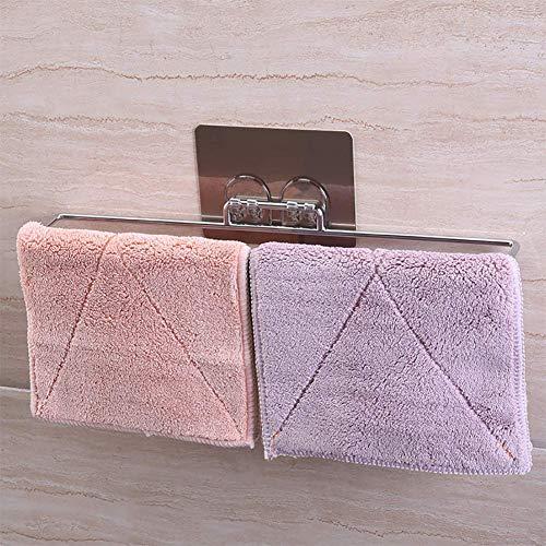 DLILI Barra Toalla baño (sin Golpes), Barra Toalla Metal, fácil instalación, adecuainodoro/Cocina/baño, Pulido
