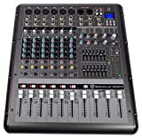 Rockville RPM870 8-Channel 6000w Powered Mixer, USB, Effects For Church/School...