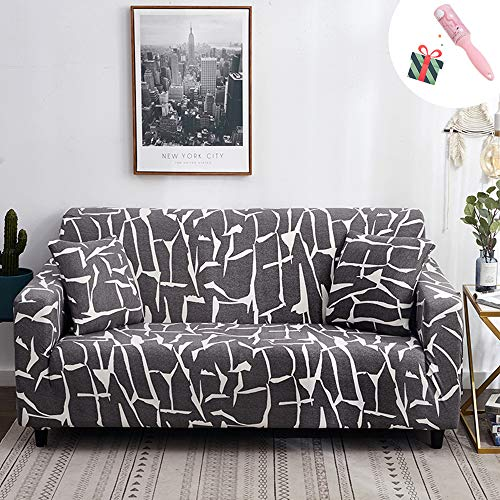 Elastisch Sofa Überwürfe Sofabezug, Morbuy Modern Ecksofa L Form Stretch Antirutsch Armlehnen Sofahusse Sofa Abdeckung Hussen für Sofa Couchbezug Sesselbezug (1 Sitzer,Hellgrau)
