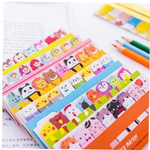 TOSSPER Kawai libreta de marcadores Creativas Lindo Pegatinas de Animales previstos útiles Escolares papelería Pegatinas de Papel (Modelo Aleatorio)