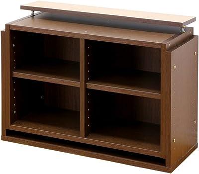 クロシオ 7518用 上置きユニット ブラウン 幅75cm高さ47~68.2cm 万能カスタム書棚