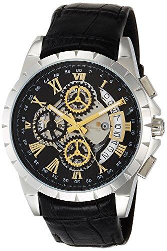 [サルバトーレマーラ] 腕時計 クロノグラフ クォーツ レザーベルト SM13119S-SSBKGD メンズ 正規輸入品 ブラック