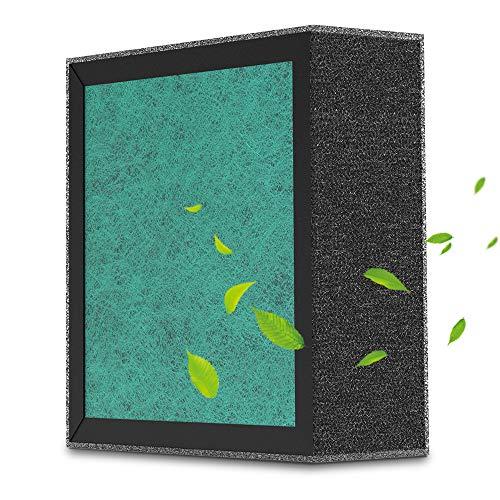 HuanQ 4 in 1 Luftreiniger Filter mit Vorfilter, True HEPA-Filter, Aktivkohlefilter und baumwolle Filter für den schwarzen Luftreiniger HuanQ