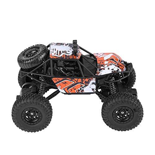 Coche de carreras de alta velocidad, vehículo todoterreno RC con tracción en las cuatro ruedas, coche de orugas eléctrico de 2,4 Ghz para Dunes Buggy Hobby Juguetes para niños y adultos(naranja)