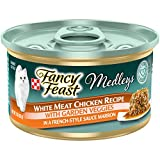 Twenty-Four (24) 3 oz. Cans - Purina Fancy Feast High Protein Wet Cat Food, Medleys White Meat Chicken With Garden Veggies in Sauce Marron Delicious ingredients you can see with a culinary-inspired marron sauce cats love Creates mealtime excitement l...