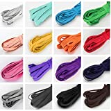 80 Yards Multiple Color Elastic for Sewing,16 Colors Different Color Elastic Bands for Sewing(1/4 Inch Elastic)