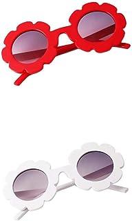 Colcolo - Colcolo 2pcs Niños Pequeños Preescolares Vintage Flor Gafas de Sol UV400 para Niñas Niños