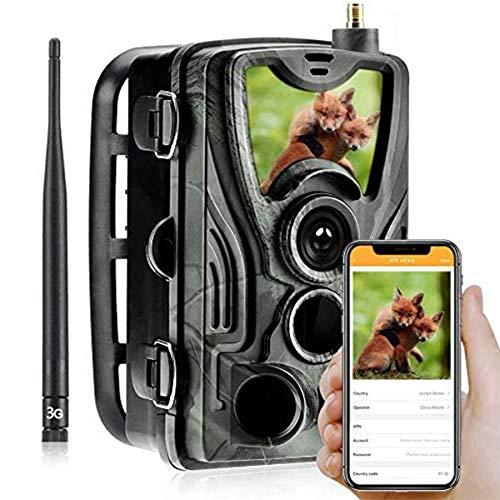 Cámara 3G 2G Cámara de seguimiento de caza 20MP 1080P MMS Cámara de vigilancia de vida silvestre, Cámara de seguimiento IP66 impermeable, Visión nocturna invisible, Vigilancia, Caza, Seguridad-GG