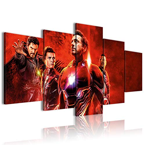 AivGEG Poster su Tela 5 Pezzi Avengers: Infinity War Office 150x80 incorniciato