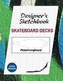 Skateboard Decks Designer's Sketchbook: Pintail Longboard