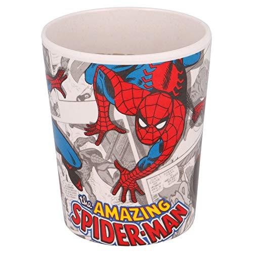 Bicchiere ecologico Tazza 270ml in bambù BPA-free per bambini (Spiderman, Bicchiere)