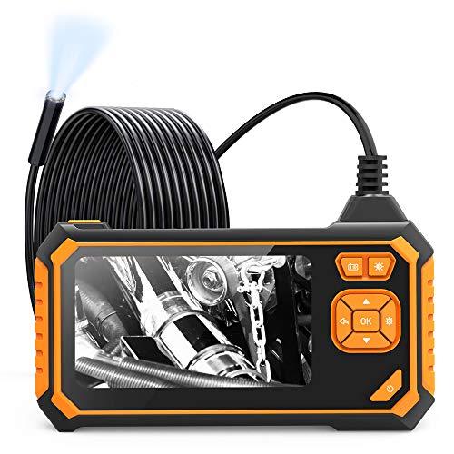 Inspektionskamera, 1080P HD-Endoskopkamera, wasserdichtes Industrieendoskop mit 4,3-Zoll-LCD-Bildschirm und 2600-mAh-Batterie, Endoskopkamera-Schlangenkamera mit LED-Lichtern, halbstarres Kabel - 5M