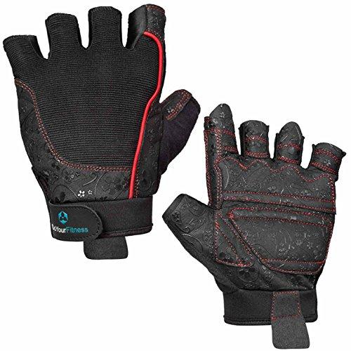 #DoYourFitness Fitnesshandschuhe »Artemis« / Unisex Trainingshandschuhe für Workout Gewichtheben Bodybuilding schwarz/rot XL