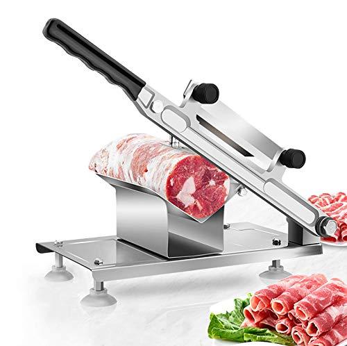 BAOSHISHAN Cortador de Carne Congelada Acero Inoxidable Manual Rebanadora de Carne para Rollos de Carne, Queso, Hierbas Hot Pot BBQ