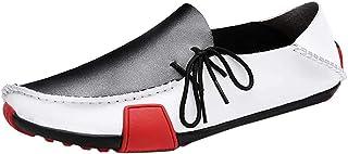 LIEBE721 Chaussures Bateau Homme Noir et Blanc Mocassins pour Hommes Parfaites pour Un Usage Quotidien Chaussures de Ville...