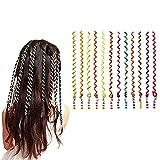 N\C XIKUO 12PCS Set Multicolor Spiral Wave Hair Braider Curler DIY Hair Styling Twist Clip