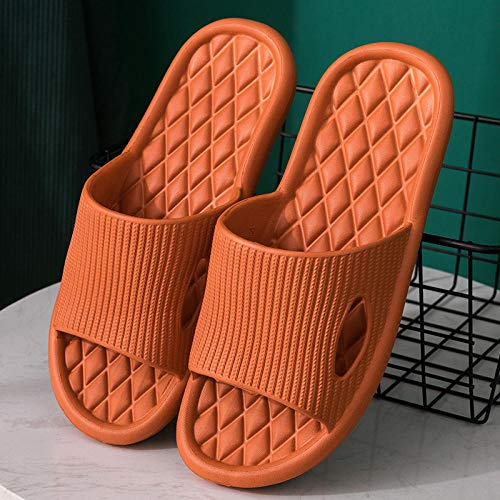 TDYSDYN Zapatos de Playa y Piscina para Niña,Zapatillas de Masaje Antideslizantes de Suela Gruesa, Sandalias de baño y Zapatillas de Pareja-Naranja_42-43
