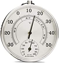 GXT Higrómetro Termómetro de higrómetro para Exteriores al Aire Libre Decorativo Preciso Temperatura Medidor de Humedad Monitor analógico Elegante (Color : Silber)