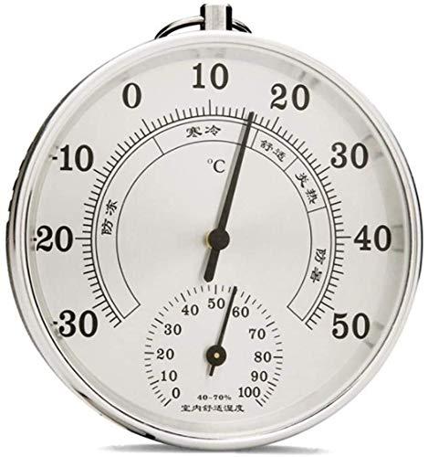 HSJ WDX- Termómetro de higrómetro al Aire Libre Interior Decorativo Temperatura precisa Medidor de Humedad Chic Monitor analógico Mensaje meteorológico Preciso (Color : Silber)