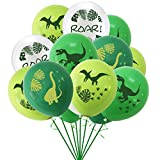 Dinosaur Themed Birthday Party Decorations Balloon Set,16pcs Dinosaur Latex Balloons,Green Brachiosaurus, Pterosaur, Velociraptor, Tyrannosaurus Roar Latex Balloons Kit  Dinosaur Balloon Decorations Set for Baby Shower Birthday Party, Jungle Jurassic Party Supplies
