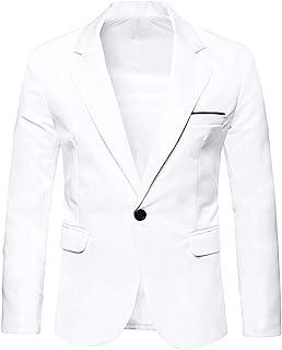 Lars Amadeus Men's Bussiness Casual Sport Coats Slim Fit One Button Dress Blazer