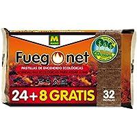 Massó Fuegonet, Pastillas de encendido ecológicas para barbacoas y chimeneas, 24 + 8 unidades
