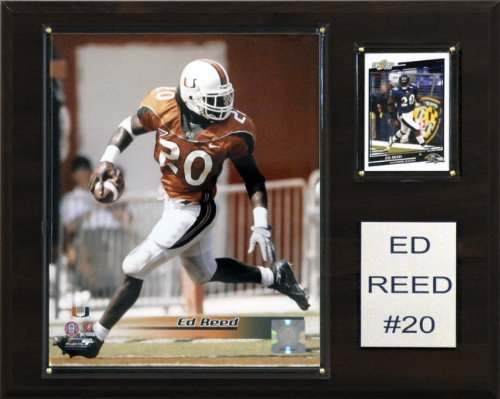 NCAA Football Ed Reed Miami Hurricanes Player Plaque