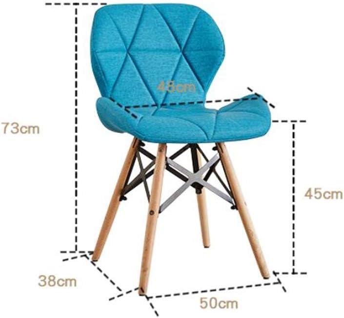 Solide Simple Chaise Bureau étudiant et Chaise de Maquillage Tabouret Retour à la Maison à Manger Chaise d'ordinateur Stable (Color : Brown) Pink