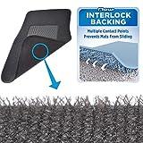 Product Image of the BDK InterLock Car Floor Mats - Secure No-Slip Technology for Automotive Interiors - 4pc Inter-Locking Carpet (Black) (826942129223)