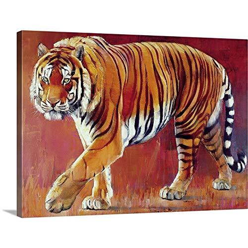 Bengal Tiger Canvas Wall Art Print, 48'x36'x1.25'