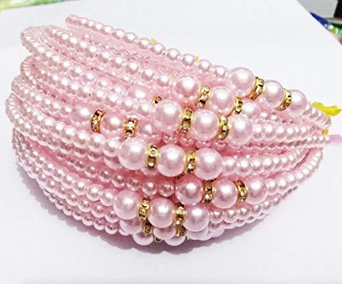 SlimpleStudio Aro de Pelo Diademas 1PCS niñas Perla Hairband de la joyería cristalina del Grano de la Princesa Pelo de la Venda de la Banda Accesorios-T4 (Color : T3)