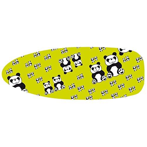 MSV Funda para Tabla DE Planchar con Cordones 137X40CM, Algodón, Panda, 137x40x3 cm