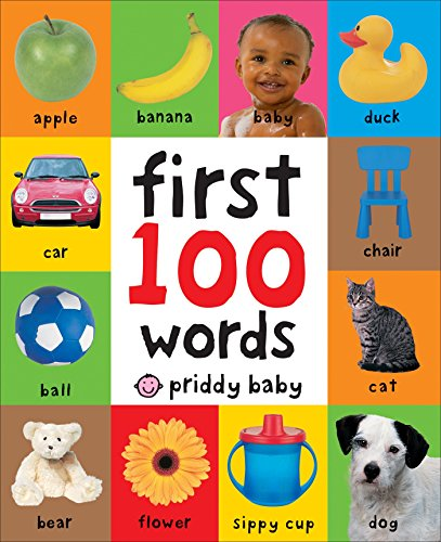 First 100 Words - Board Book for 1 Year Old Boys