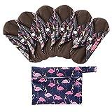 7 Stück/Set Waschbare/Wiederverwendbare Slipeinlagen mit Holzkohle Absorbency Menstruation-Pads Waschbare Stoffbinden, Wiederverwendbare Binden