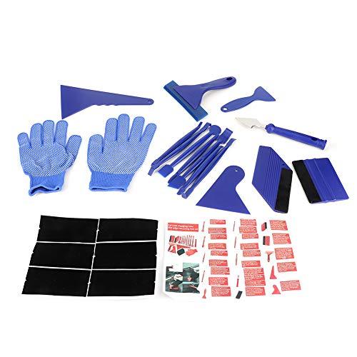 BLLBOO-Car Film Scraper -21 Stück/Set Umfassendes Kantenschließwerkzeug Kit Kratzfreier Rakelschaber für Autoaufkleber Farbwechselfolie