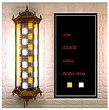 Bronze Barber Pole Style Rétro Salon Barber Shop Ouvert Signe Rotatif Éclairant Ampoules LED Lampe Murale,O