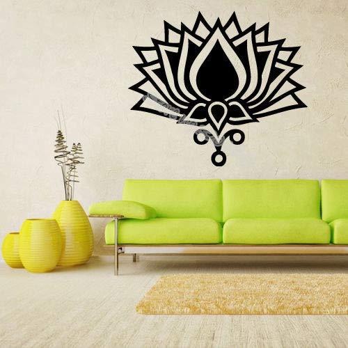 mlpnko Creativo Loto Vinilo Pared calcomanía Yoga meditación Moda Pegatina Sala de Yoga Sala decoración Arte 84x72cm