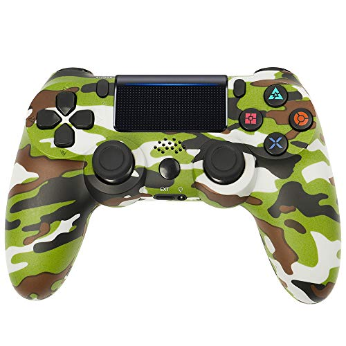 Controller PS4, VINSIC Wireless Joystick Playstation 4, Controller di Gioco Senza Fili con Joypad del Dualshock per PS4 Slim/PRO And PC (Verde Camuffare)