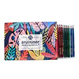 48 Lápices de Colores, Set de Lápices de Colores para Niños con Caja Portátil, Lápices para Dibujos Esbozos Mándalas,72-Colors-Water-Soluble