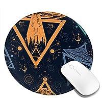 マウスパッド 円形 かわいい オフィス最適 宇宙人 ufo 子供絵 個性ゲーミング エレコム 防水性 耐久性 滑り止め 多機能 おしゃれ ズレない 直径20cm
