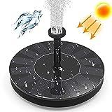 Solar Baño Pájaros Bomba de Agua,1.4W Bomba de Fuente Solar Flotante de Pie Bomba de Agua Solar con 6 Boquillas,Fuente Bomba Sumergible para Pecera Acuario Jardín Decoración-1.4w 16cm(6.3inch)