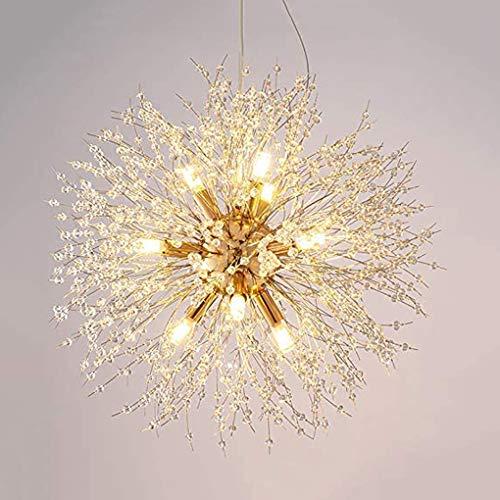 G9 Feuerwerk Löwenzahn Kronleuchter (8 Lichter), moderner Kristall Kronleuchter, Wohnzimmer, Schlafzimmer und Esszimmer, Gold