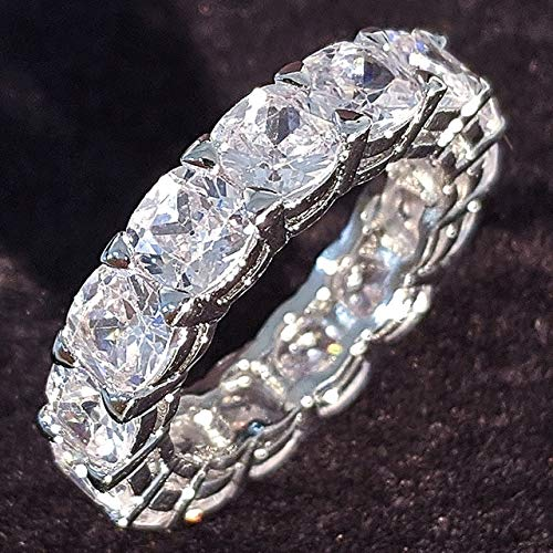 Luxury 925 Sterling Silver Wedding Band Eternity Ring for Women Big Gift for Ladies LoveLots Bulk Jewelry R4577-7,R5854-green