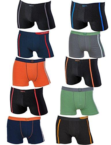 REMIXX 10er Pack Boxershorts Retroshorts Unterhosen Pants Gr. M 5 L 6 XL 7 2XL 8 (XL / 7)
