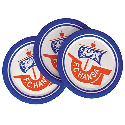 F.C. Hansa Rostock e.V. Papp Partyteller 8er Set