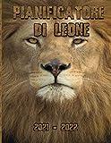 pianificatore di leone 2021-2022: Lion Cover, 2021-2022 Planner mensile completo di 2 anni Agenda Agenda per 24 mesi di calendario con elenco delle cose da fare, note, registro dei compleanni