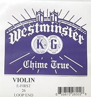 Westminster 26 バイオリン弦 ウエストミンスター E弦 ループエンド 【バラ弦1本】 ウェストミンスター