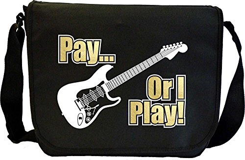 Electric Guitar Pay or I Play - Sheet Music & Accessory Messenger Bag MusicaliTee